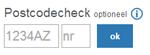 Internet postcodecheck uitvoeren